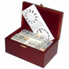 Домино профессиональное D12 в деревянной шкатулке с флоком  RT-2555