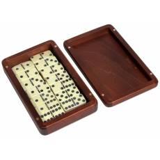 Домино турнирное D6 в деревянной шкатулке без флока RT-25.s