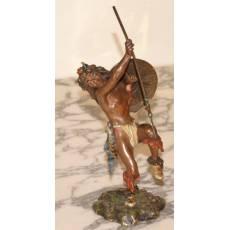 """Скульптура """"Индеец в боевом танце"""" 7B29"""