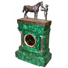 """Часы кабинетные """"Проводка кавалерийской лошади"""" 18B84"""