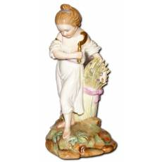 "Скульптура ""Девушка - жница"", Копенгаген, королевская мануфактура, начало 20 века 8F37"