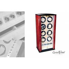 Шкатулка с автоподзаводом для 8-ми часов с выдвижным ящиком для хранения драгоценностей LuxeWood LW228-3