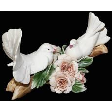 """Статуэтка """"Пара голубей на ветке""""  Artigiano Capodimonte 2009/15"""