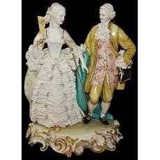 """Статуэтка """"Дама и кавалер"""" Porcellane Principe 1090/PP"""