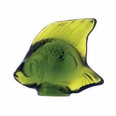 """Статуэтка """"Рыбка"""" желто-зеленая Lalique 3000900"""