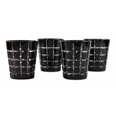 "Набор из 4-х стаканов для виски черный ""Metropolitan"" FABERGE 431054BK"