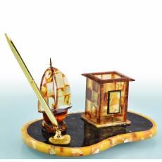"""Письменный набор """"Кораблик"""" (янтарь) Авторские работы RV0022337CG"""