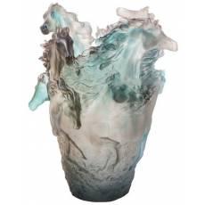 """Ваза для цветов """"Лошадь"""" серо-голубая 500 экз. """"Cheval"""" Daum 05358-1"""