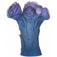"Ваза для цветов ""Pivoine"" синяя (h=17) Daum 05215-3"