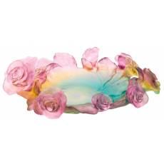 """Блюдо для фруктов """"Rose Passion"""" зелёно-розовое Daum 05314"""