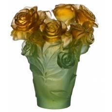 "Ваза для цветов ""Rose Passion"" зелено-оранжевая (h=17) Daum 05287-2"