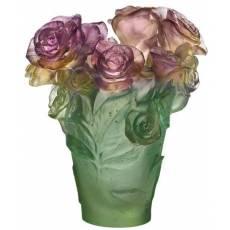 "Ваза для цветов ""Rose Passion"" зелено-розовая (h=17) Daum 05287"