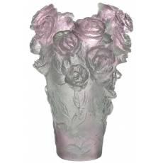 """Ваза для цветов """"Rose Passion"""" зелено-розовый (h=7) Daum 05264-1/C"""