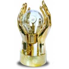 Хрустальная лампочка с логотипом компании О-Э-9