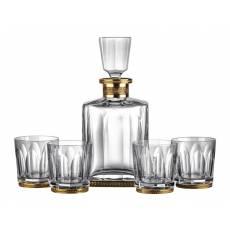 "Набор ""Мetropole"" из штофа для виски и 4-х стаканов FABERGE 531"