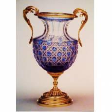 """Ваза для цветов """"Rocaille"""" Faberge 03-PL98-CP kobalt"""