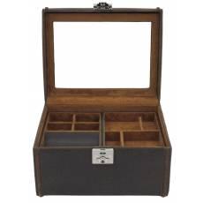 """Шкатулка для хранения 8 часов и драгоценностей """"Cubano"""" Friedrich Lederwaren от Champ-Collection  27025-3"""