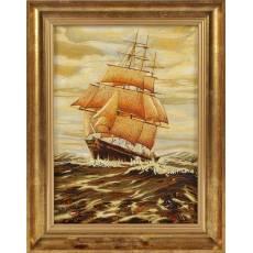 """Янтарная картина """"Корабль"""" Авторские работы RV25360CG"""