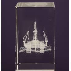 """Лазерная графика Куб """"Морская буровая вышка"""" Авторские работы RV12053CG"""