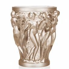 """Ваза для цветов золотая """"Bacchantes"""" Lalique 10547100"""