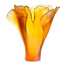"""Ваза для цветов """"Ginkgo"""" оранжевая (h=30) Daum 03409-3"""
