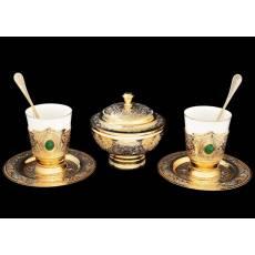 """Набор кофейный """"Барокко"""" на 2 персоны Златоуст RV0028116CG"""
