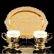 """Кофейный набор на 2 персоны """"Элита"""" 5 пр. Златоуст RV0038271CG"""