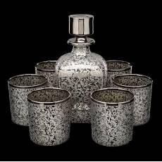 """Хрустальный графин с бокалами для виски """"Bleinheim"""" на 6 персон RV0022373CG"""