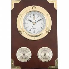 """Часы настенные """"Иллюминатор"""" с термометром и гигрометром Sea Power CK205"""