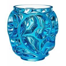 """Ваза для цветов голубая (малая) """"Tourbillons"""" Lalique 10571500"""
