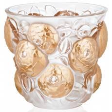 """Ваза для цветов золотая """"Oran"""" Lalique 10571100"""