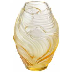 "Ваза для цветов золотая ""Poissons Combattants"" Lalique 10684400"