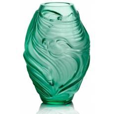 "Ваза для цветов зелёная ""Poissons Combattants"" Lalique 10684300"