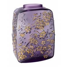 """Ваза для цветов фиолетовая """"Fleurs de Cerisier"""" Lalique 10708100"""