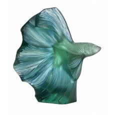 "Статуэтка малая мятно/зелёная ""Боевая рыба"" Lalique 10672700"