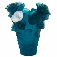 """Ваза для цветов """"Rose Passion"""" бело-синяя (h=17) Daum 05287-7"""