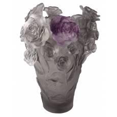 """Ваза для цветов """"Rose Passion"""" серо-фиолетовая (h=35) Daum (Лимитированная серия 500 экз.) 05308-3"""