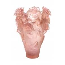 """Ваза для цветов """"Rose Passion Magnum"""" розовая (h=53) Daum (Лимитированная серия 99 экз.) 05106-9"""