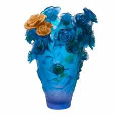 """Ваза для цветов """"Rose Passion Magnum"""" фиолетовая (h=53) Daum (Лимитированная серия 25 экз.) 05376-6"""
