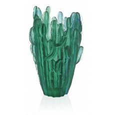 """Ваза для цветов """"Кактус"""" Jardin de Cactus зеленая (h=41) Daum 05673"""