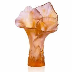 """Ваза для цветов """"Роза"""" Arum янтарно-розовая (h=57) Daum 05667-1"""