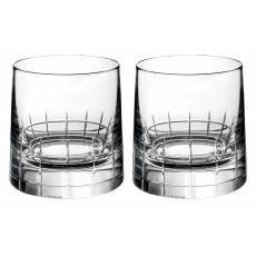 "Набор из 2-х стаканов для виски ""Graphik"" (h=8) Christofle 07945220"