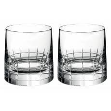 "Набор из 2-х стаканов для виски ""Graphik"" (h=9,3) Christofle 07945260"
