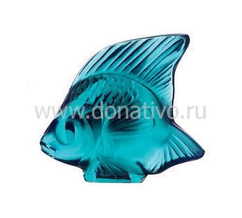 """Статуэтка """"Рыбка"""" бирюзовая Lalique 3000500"""