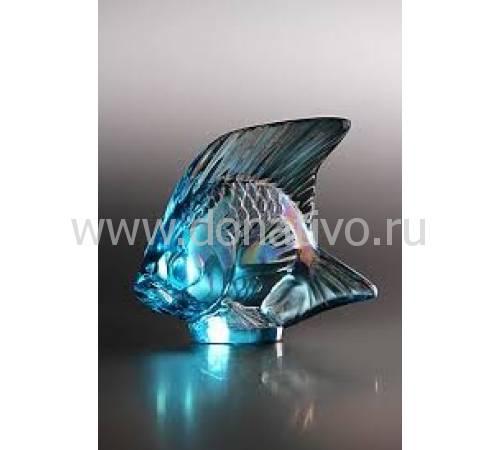 "Статуэтка ""Рыбка"" золотисто-бирюзовая Lalique 10205600"