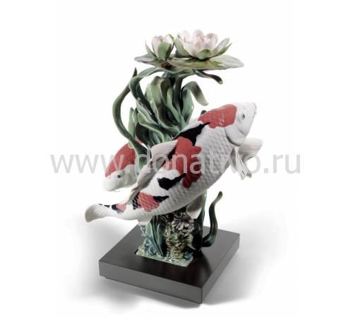"""Статуэтка """"Карпы кои"""" Lladro 01001959"""