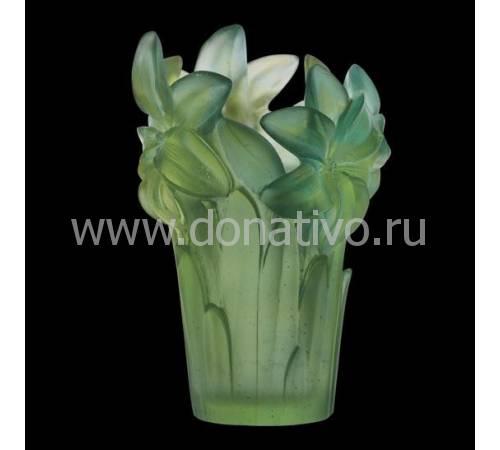 Ваза для цветов бирюзовая Daum 05214