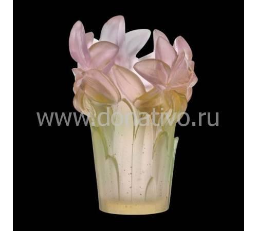Ваза для цветов розовая Daum 05214-1