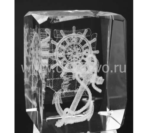 """Лазерная графика Куб """"Якорь"""" Авторские работы RV16693CG"""