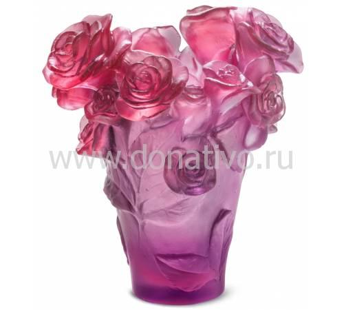 """Ваза для цветов """"Rose Passion"""" красно-фиолетовая (h=17) Daum 05287-5"""